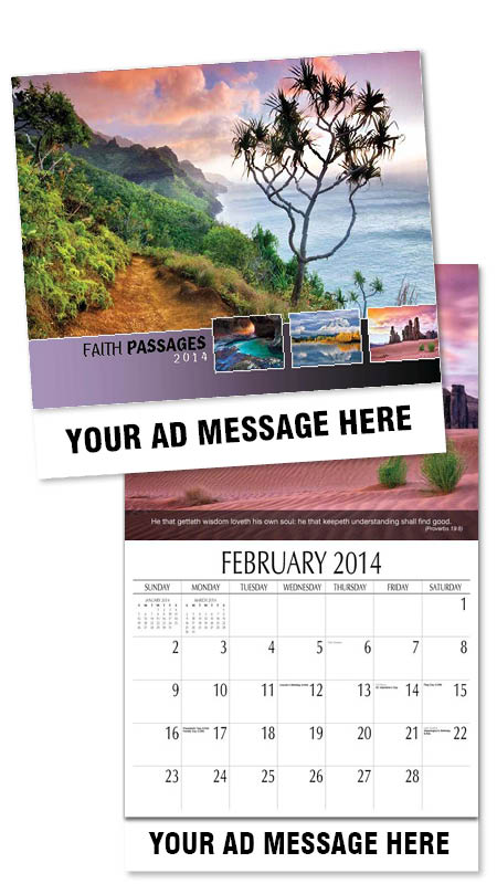 Wholesale Bible Verses Inspirational Calendars, Personalized with Custom Imprint