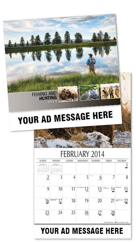 Custom fishing hunting calendars personalized in bulk for Hunt fish calendar