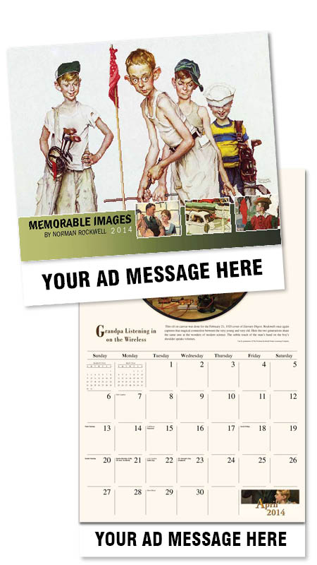 Wholesale Norman Rockwell Calendars, Personalized with Custom Imprint