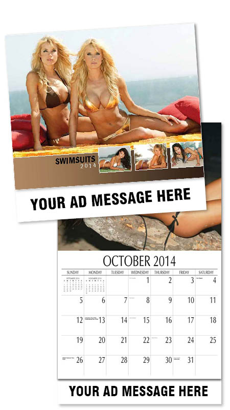 Wholesale Swimsuits Calendars, Personalized with Custom Imprint