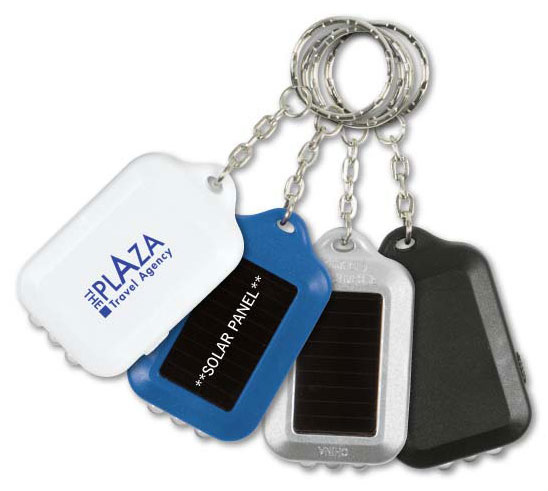 Promotional Solar LED Light Key Chain Personalized in Bulk