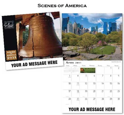 Wholesale Scenes of America  Calendars, Personalized with Custom Imprint