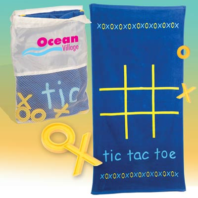 Wholesale Tic Tac Towel kit in Bulk, Personalized blue