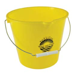 7 Quart Buckets -Pails in Bulk, Personalized, Blue, Green, Red, White, Yellow, Black, Dark Green, Navy Blue