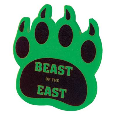 Wholesale Foam Cat Claw cheering mitt in Bulk, Personalized, Athletic Gold, Charcoal, Dark Green, Green, Navy Blue, Orange, Red, Royal Blue, Violet, Yellow