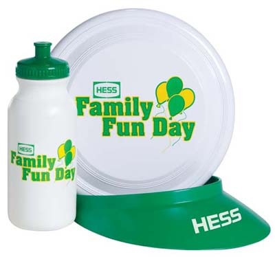 Wholesale Promotional Frisbee, Bottle & Visor Kit in Bulk, Personalized
