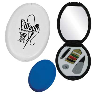 Bulk Sewing Mirror Case, Black, White, Blue