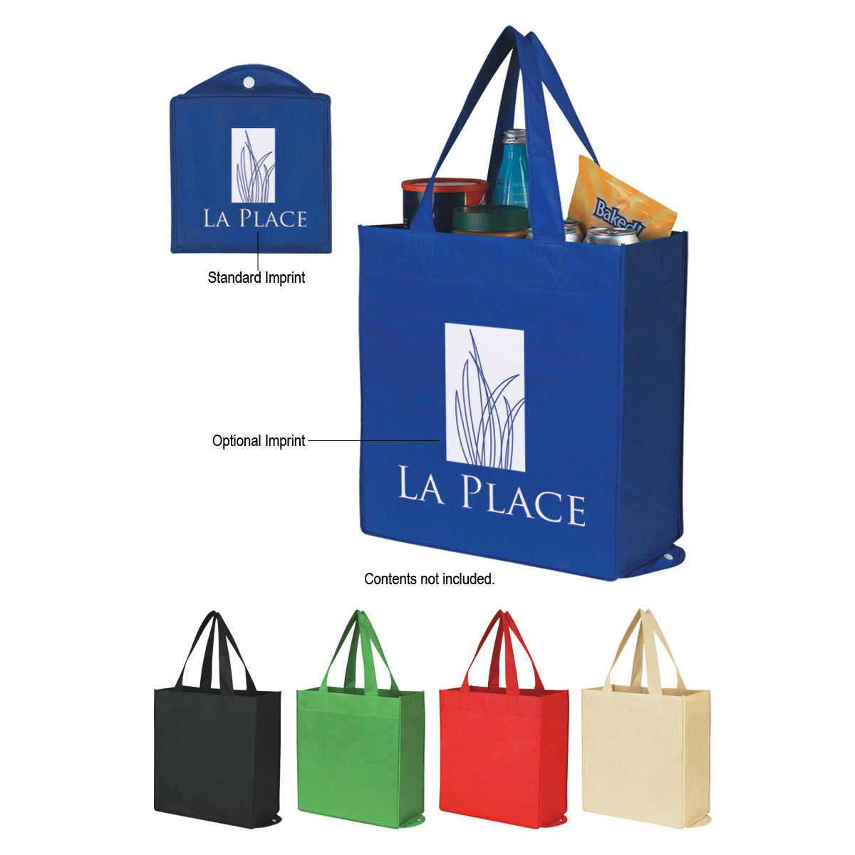 wholesale foldable tote bags, personalized in bulk , Black and Tan or Beige and Tan