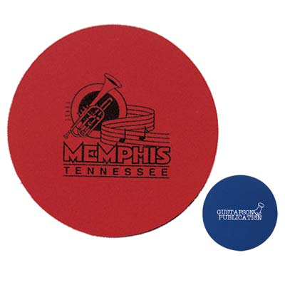 Wholesale Rubber Coasters in Bulk, Personalized, Red & Blue