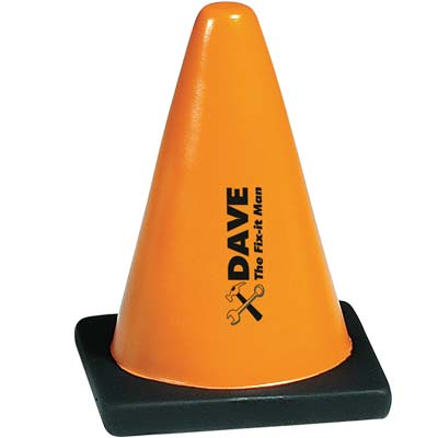 Wholesale Cone Stress Relievers in Bulk, Personalized, Orange Black