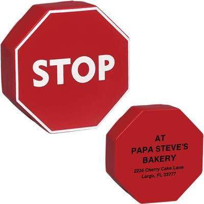 Wholesale Stop Sign Stress Relievers in Bulk, Personalized, Red