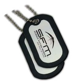 Wholesale Dog Tag in Bulk, Personalized, Silver with Black Trim