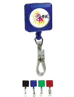 Personalized Retractable Badge Holder in Bulk, Black, Blue, Green, & Red
