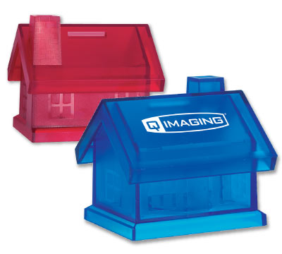 Wholesale House Bank, Personalized in Bulk, Red and Blue