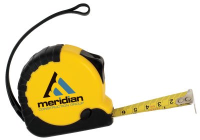 Wholesale Locking Tape Measure, Personalized in Bulk. Yellow with Black Trim