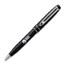 Customized Ballpoint Metal Pens, Midnight Blue or Black with Silver Accents