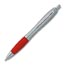 Cheap Advertising Pens Personalized in Bulk. Silver with Red, Blue, Orange Green or Purple