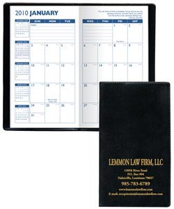 Personalized Monthly Planners, Leatherette Covers