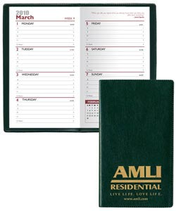 Personalized Weekly Planners, Leatherette Covers