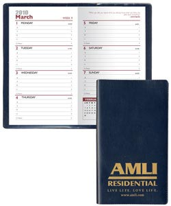 Custom Weekly  Planner, Personalized in Bulk, Burgundy, Navy, Hunter Green, Black