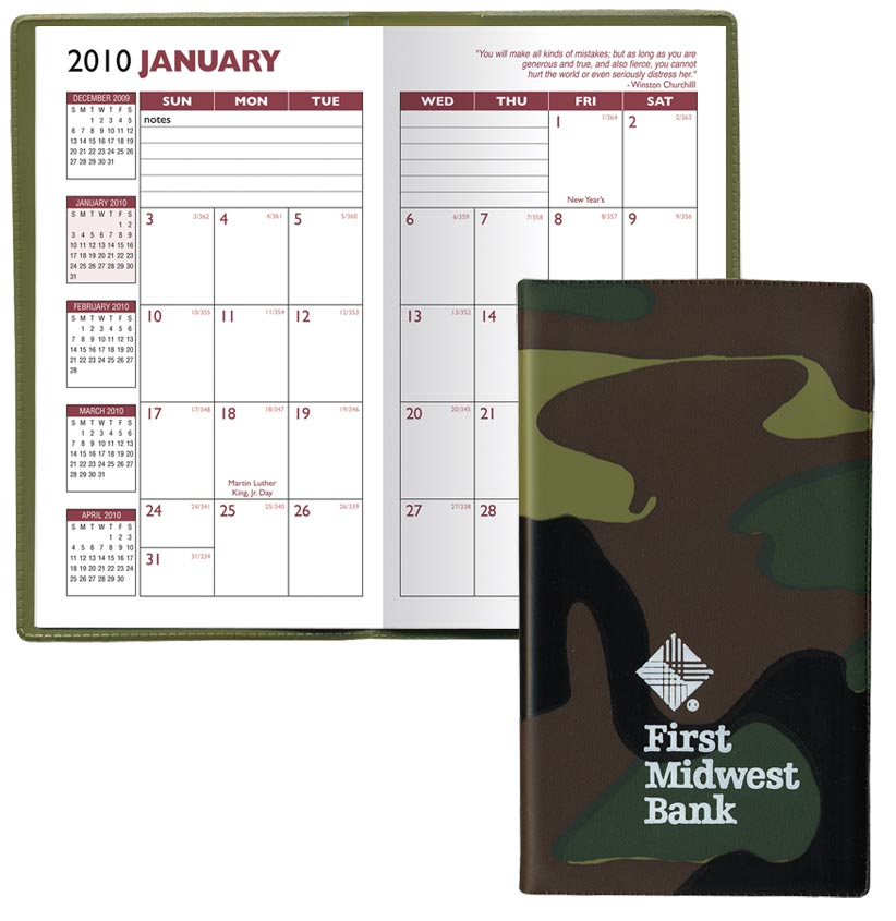 custom camouflage monthly planners personalized in bulk cheap