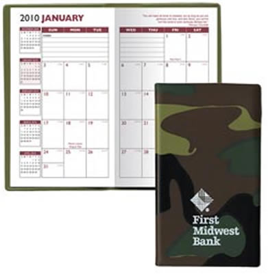 Camouflage Planners Personalized, Monthly