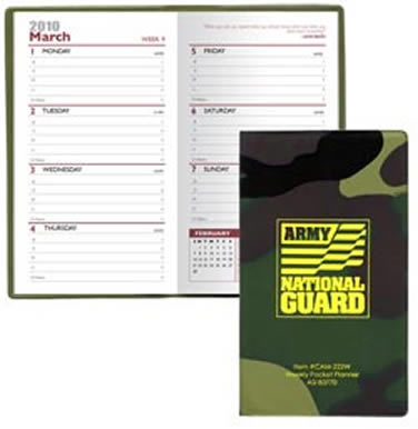 Camo Planner Custom Printed, Weekly