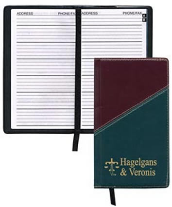 Personalized Hard Cover Address Book