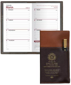 Personalized Weekly Planner w/ Pen