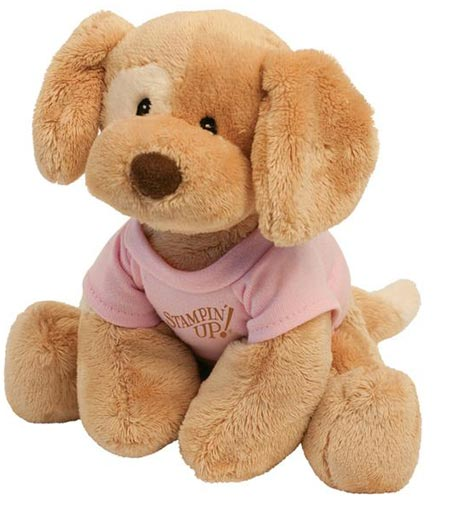 Custom Plush Puppy Gund, Personalized in Bulk, Brown or Brown and White.