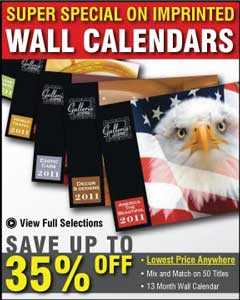 wholesale wall calendars, personalized in bulk for USA and Canada advertising
