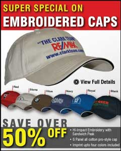 inexpensive wholesale embroidered caps for USA, Canada advertising