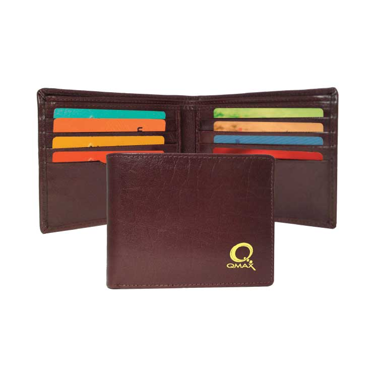 Wholesale Leather Billfold in Bulk, Personalized, Black and Brown