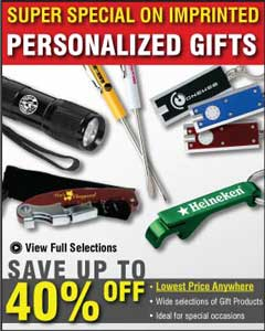 wholesale personalized gifts, bulk giveaways for USA, Canada advertising