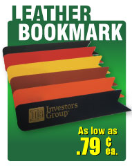 discounted wholesakle leather bookmarks custom imprinted in bulk