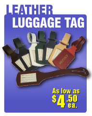 inexpenive wholesale leather luggage tags personalized in bulk