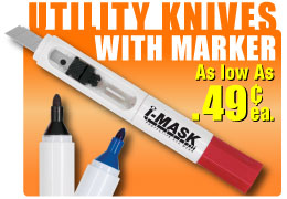 economy bulk utility knives with markers