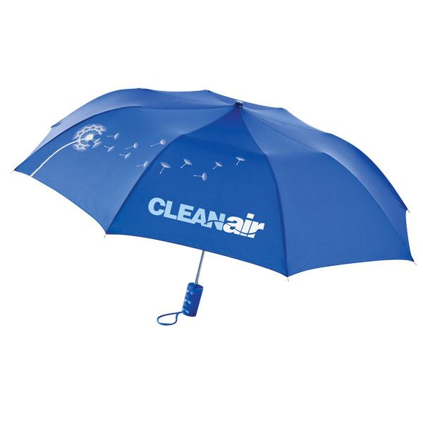 Advertising Folding Umbrellas in Bulk, Black, Lime, Red, Blue.