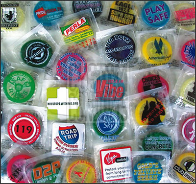Cheap Colored Condoms Custom Printed in Bulk