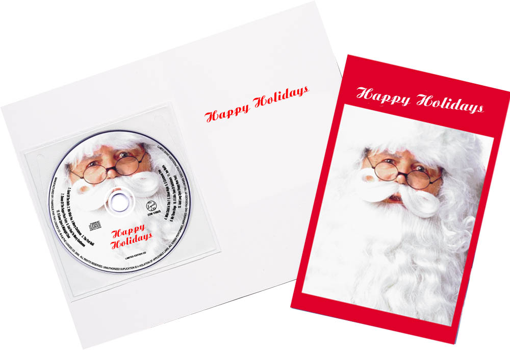 Santa Claus greeting card CDs