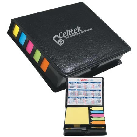 Custom Leatherette Sticky Notes Case with Calendar & Pen Personalized Wholesale