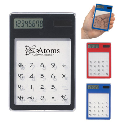 Custom Clear Solar Calculator Personalized in Bulk