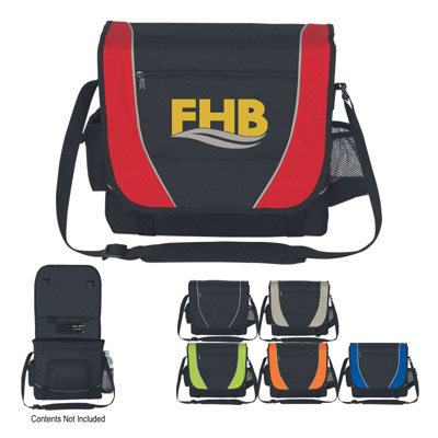 Custom Embroidered Messenger Bags, Red, Royal Blue, Lime Green, Orange, Black