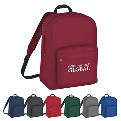 Classic Backpacks Personalized, Red, Royal Blue, Forest Green, Black, Gray, Navy or Maroon.