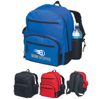 600D School Backpacks in Bulk, Personalized, Red, Royal Blue or Black