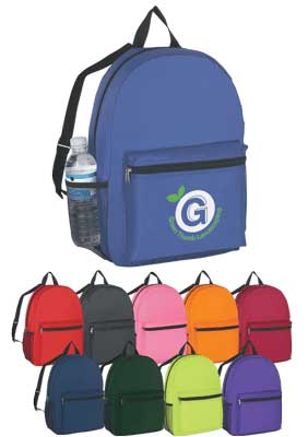 Personalized School Rucksacks Purple, Royal, Lime, Black, Orange, Navy, Pink, Maroon, Green, Red.