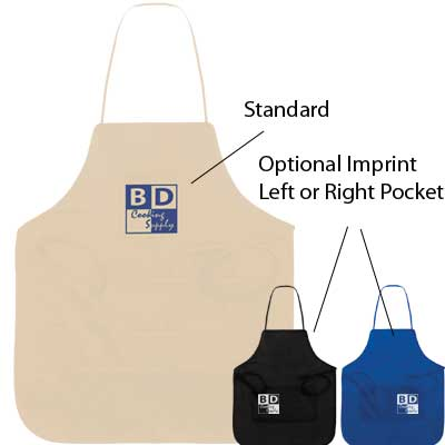Personalized Aprons, White, Black or Royal Blue.