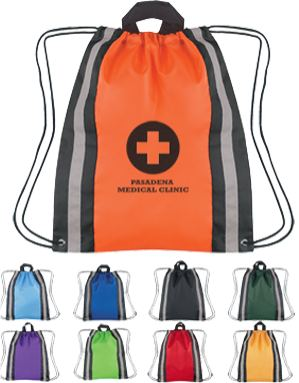 reflective backpacks, personalized Purple, Royal Blue, Carolina Blue, Forest Green, Lime Green, Yellow, Red, Orange or Black
