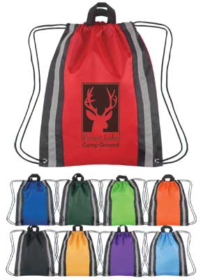 Large Reflective Backpacks Purple, Royal Blue, Carolina Blue, Forest Green, Lime Green, Yellow, Red, Orange or Black.
