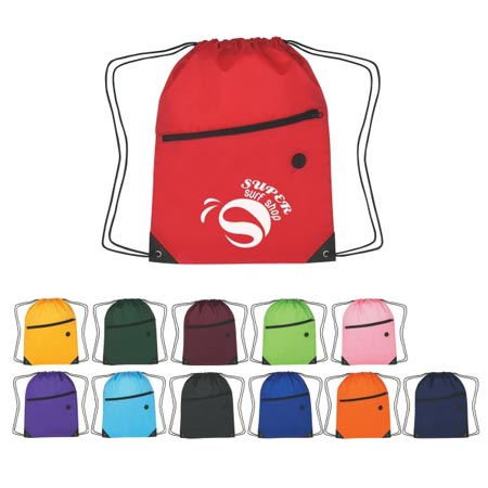 Custom Drawstring Sports Pack Personalized Wholesale Purple, Royal Blue, Lime Green, Forest Green, Navy, Orange, Athletic Gold, Maroon, Carolina Blue, Black, Pink or Red.